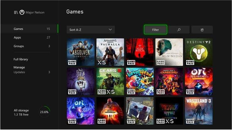 etiquetas de los juegos optimizados en tu Xbox Series X