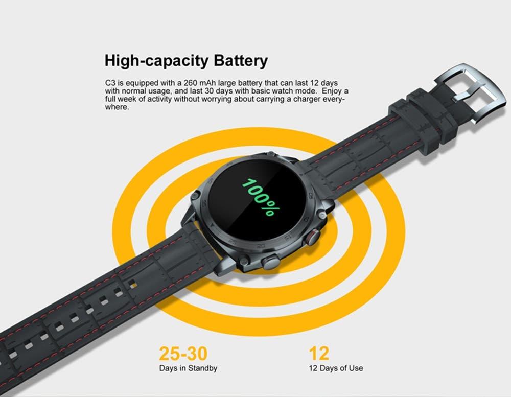 Review smartwatch Cubot C3 2