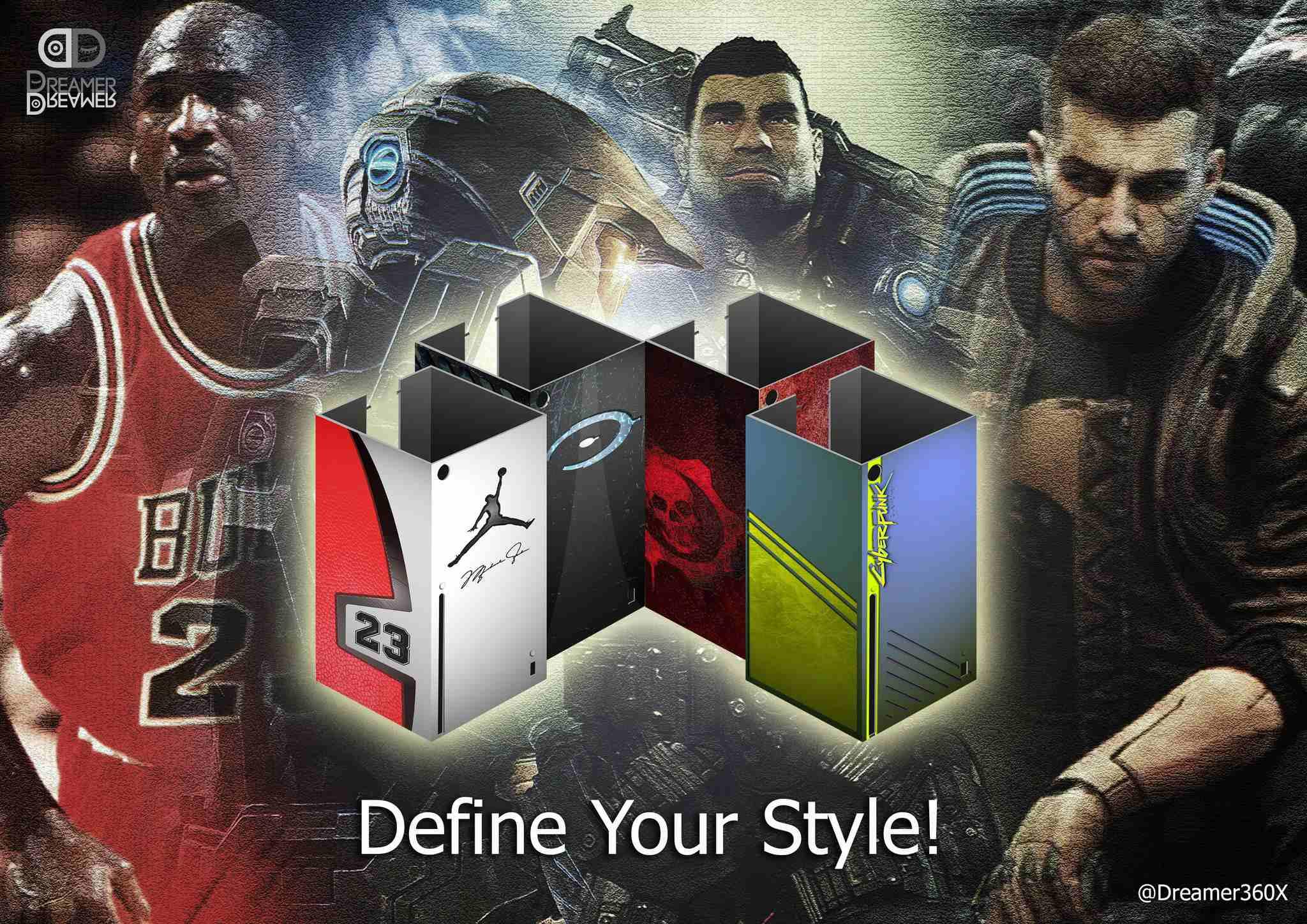 carcasas intercambiables para Xbox Series X