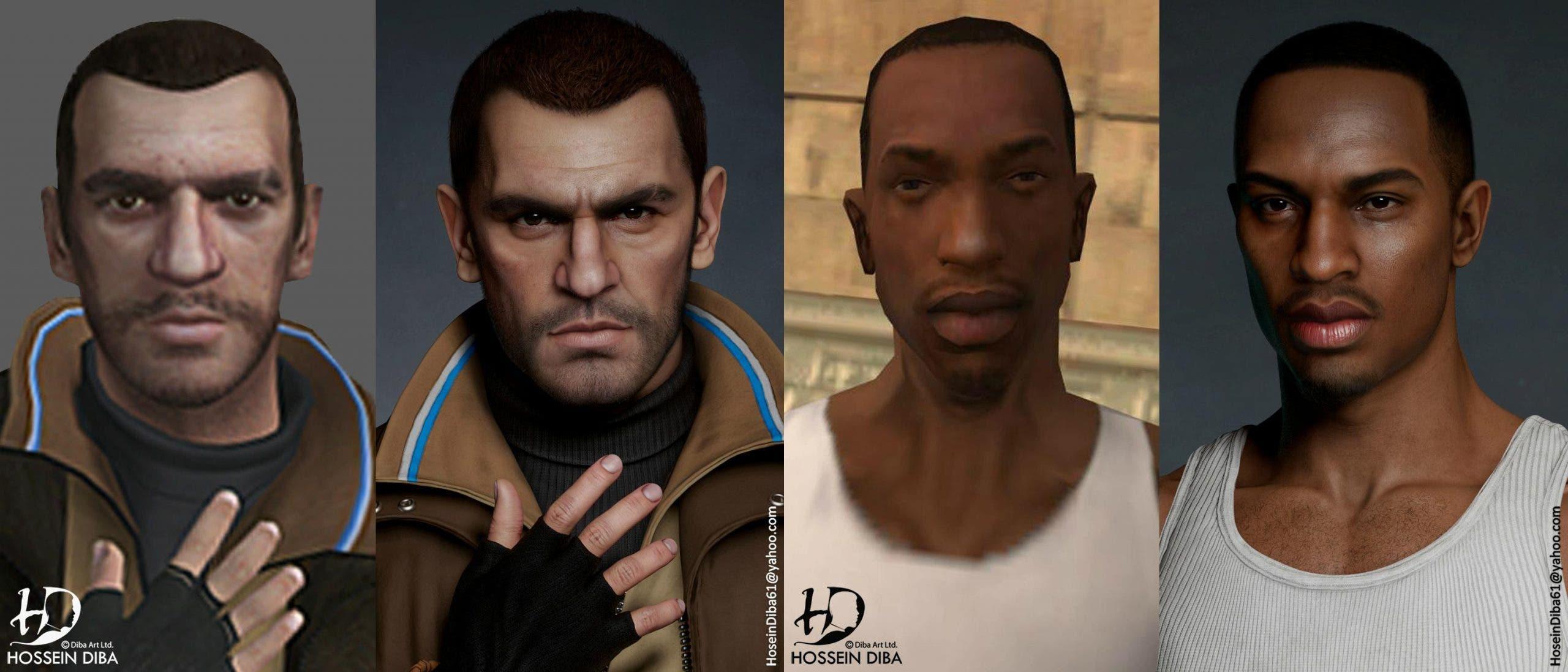 protagonistas de GTA