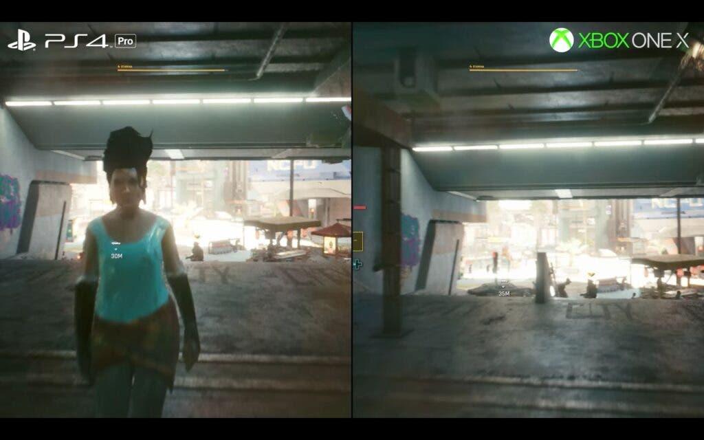 Digital Foundry compara el rendimiento de Cyberpunk 2077 en Xbox One X y Ps4 Pro
