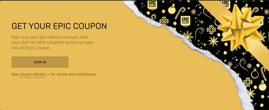 Epic Games te regala cupones ilimitados de 10 dólares para que compres el juego que quieras