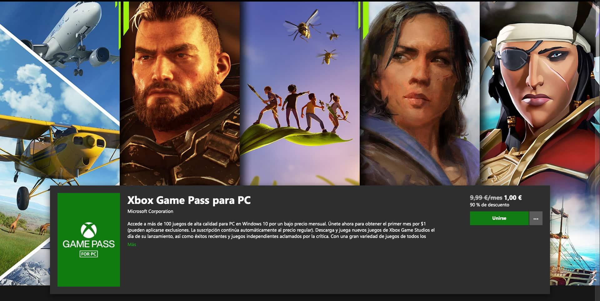 ¡Vuelve la oferta de Xbox Game Pass a 1€! (PC) 2