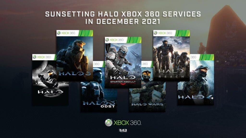 Adiós a los servicios en línea de Halo de Xbox 360