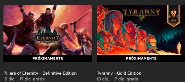 Hoy llegan dos nuevos juegos gratis a la Epic Games Store