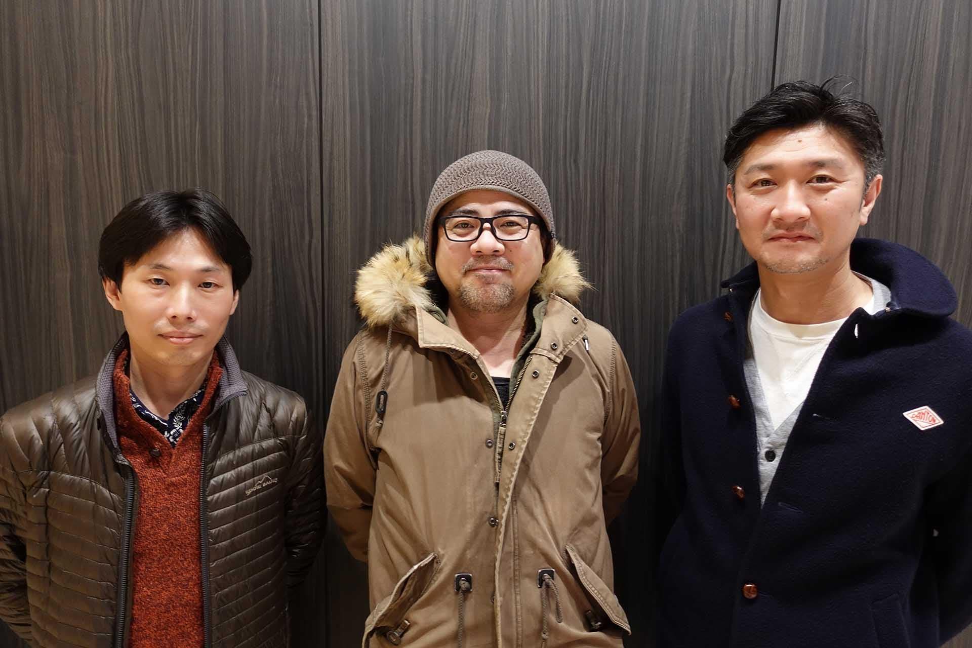 Keiichiro Toyama junto a los otros dos cofundadores de Bokeh Game Studio