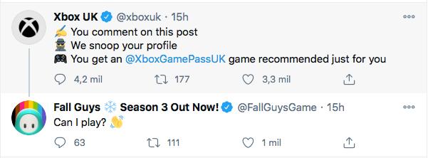 La cuenta oficial Fall Guys se pronuncia sobre su llegada a Game Pass