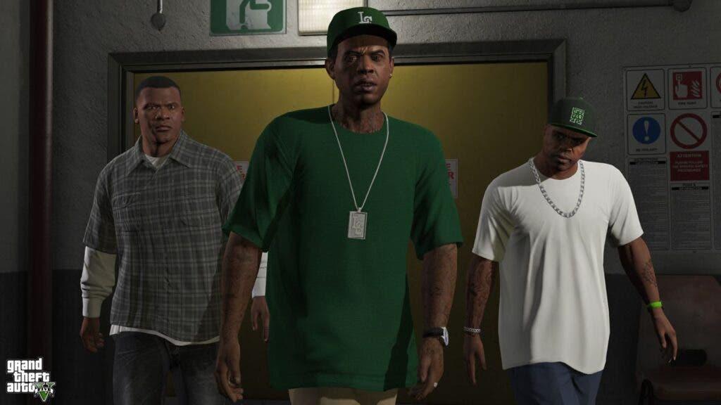 Recrean una escena icónica de GTA V con los actores de voz del juego