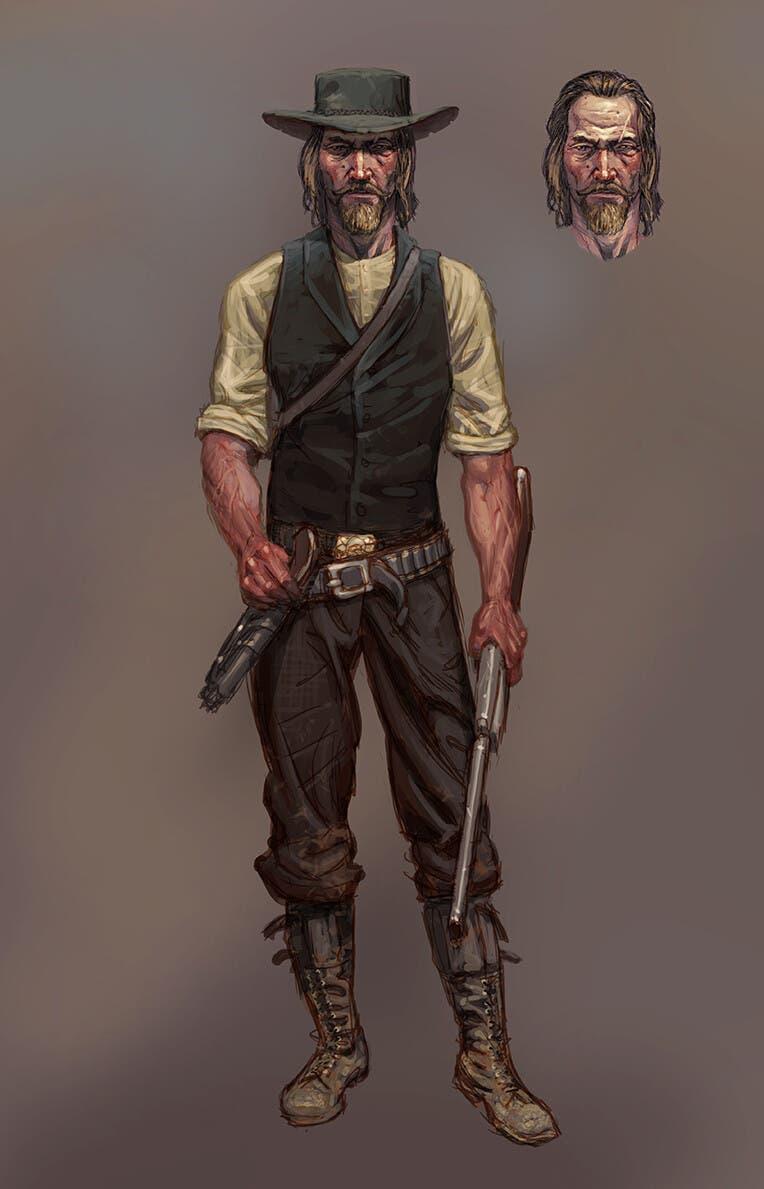 Así era el diseño original de Arthur Morgan en Red Dead Redemption 2 2