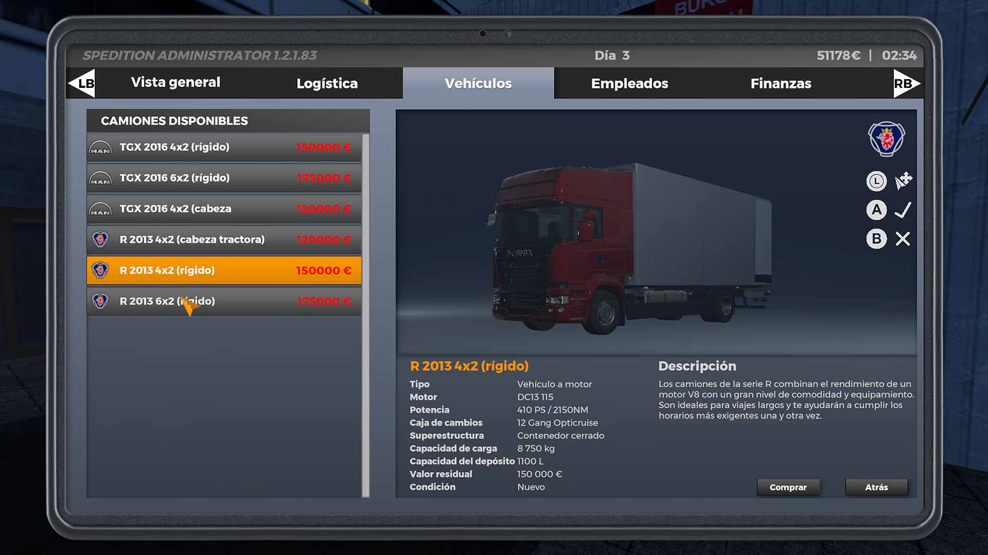 Análisis de On the Road: The Truck Simulator - Xbox 3