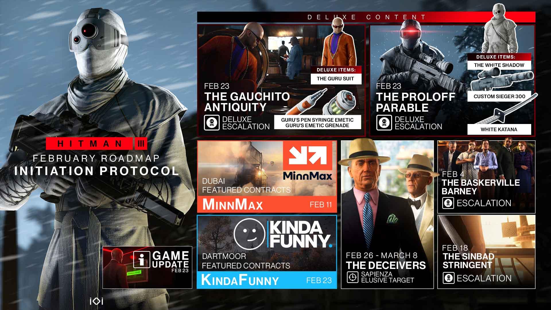 IO Interactive muestra las novedades de Hitman 3 que llegarán en febrero 2