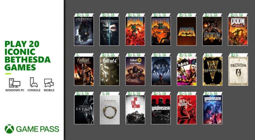 Es oficial, 20 juegos de Bethesda llegarán mañana a Xbox Game Pass