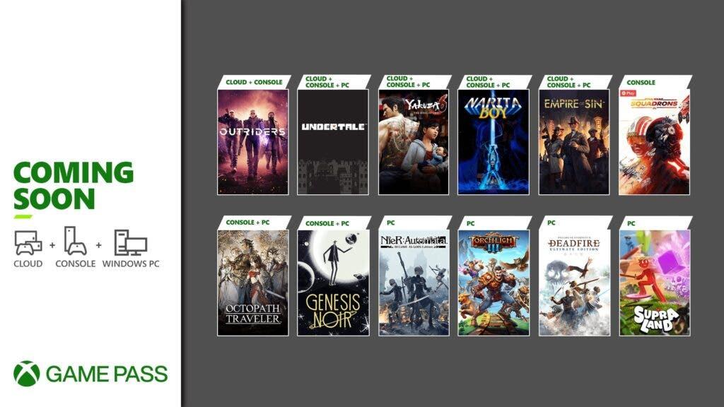 más juegos llegan a Xbox Game Pass en marzo