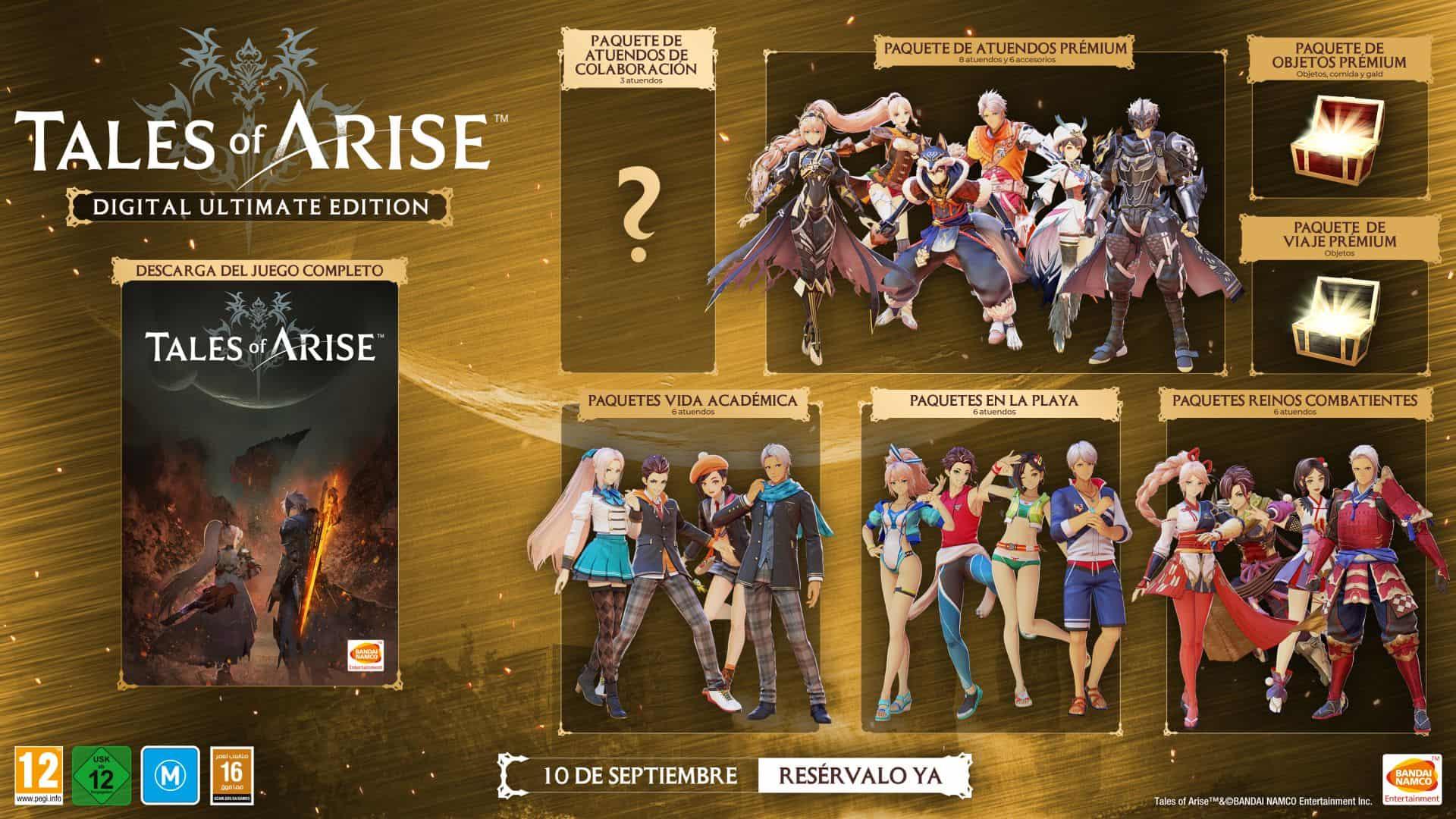 Anunciada la fecha de salida de Tales of Arise en Xbox 3