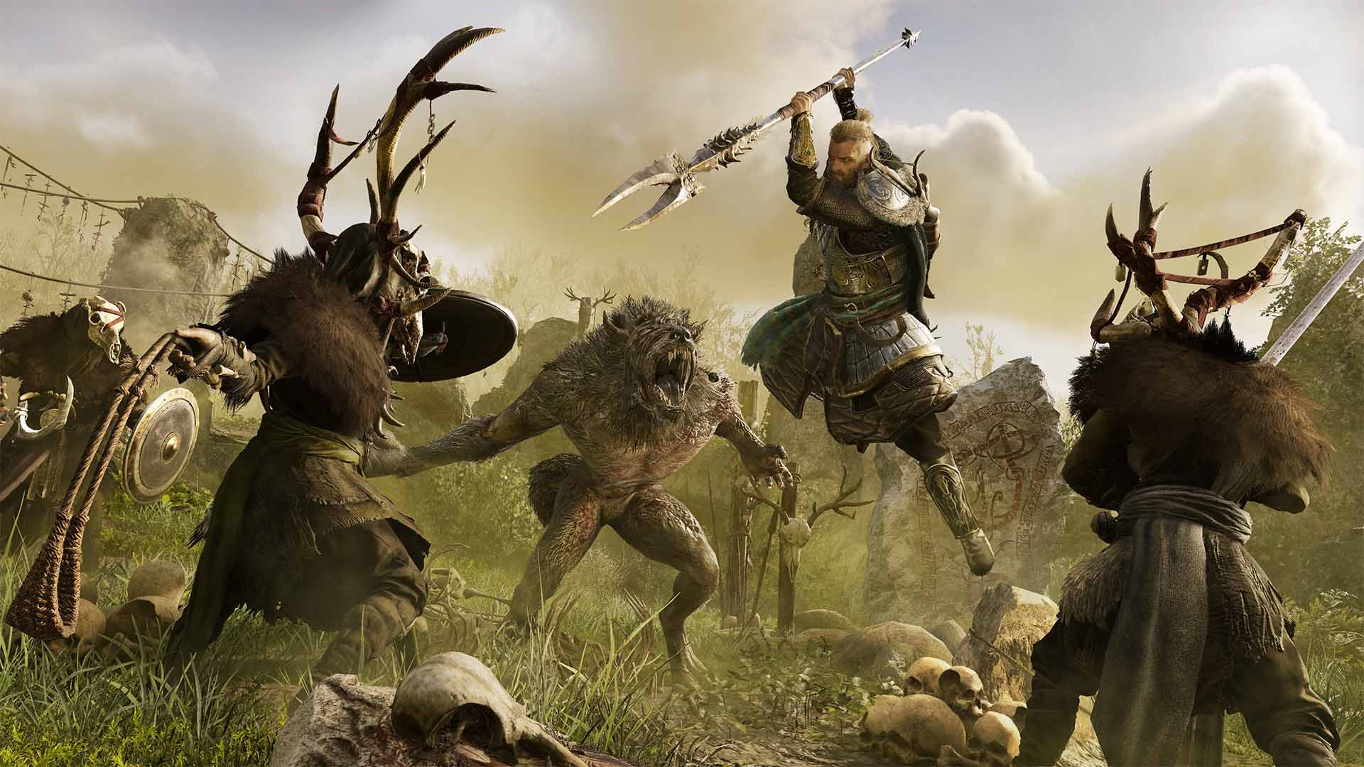 Los hombres lobo llegarán a Assassin's Creed Valhalla en la expansión Wrath of the Druids 3