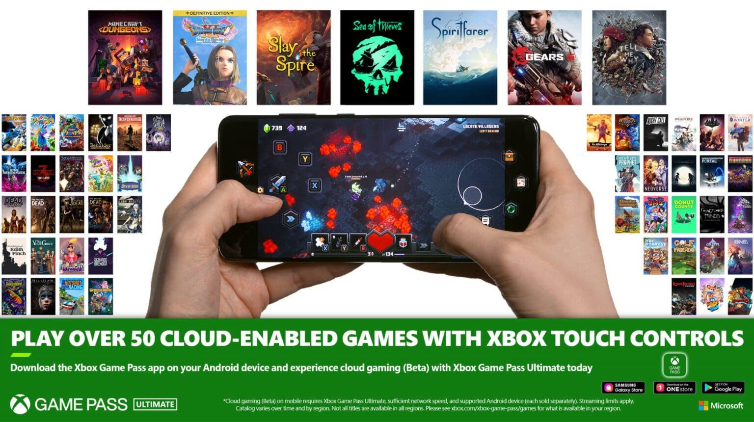 juegos con controles táctiles a xCloud