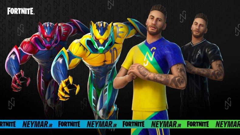 skin de Neymar Jr. en Fortnite
