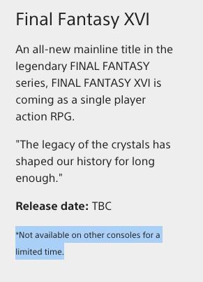 Final Fantasy XVI llegará a Xbox