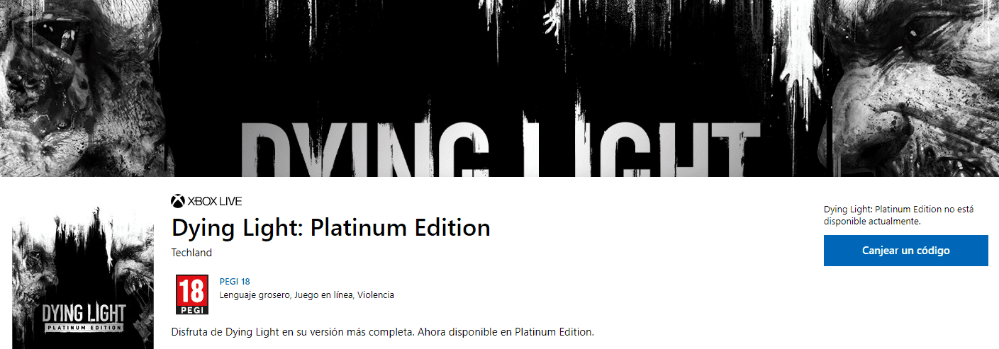 Microsoft Store filtra la Dying Light Platinum Edition
