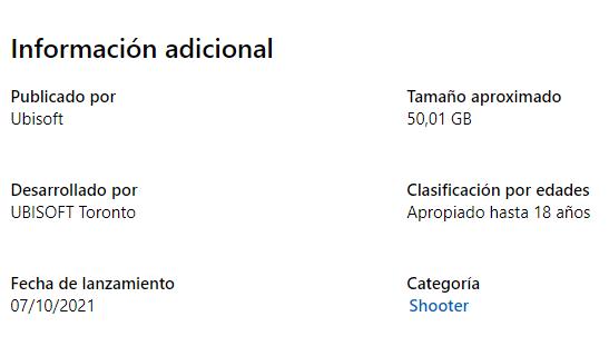 tamaño de descarga de Far Cry 6 en Xbox