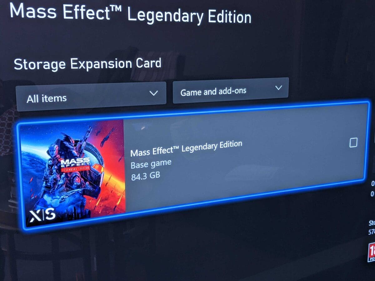 tamaño de descarga de Mass Effect Legendary Edition en Xbox