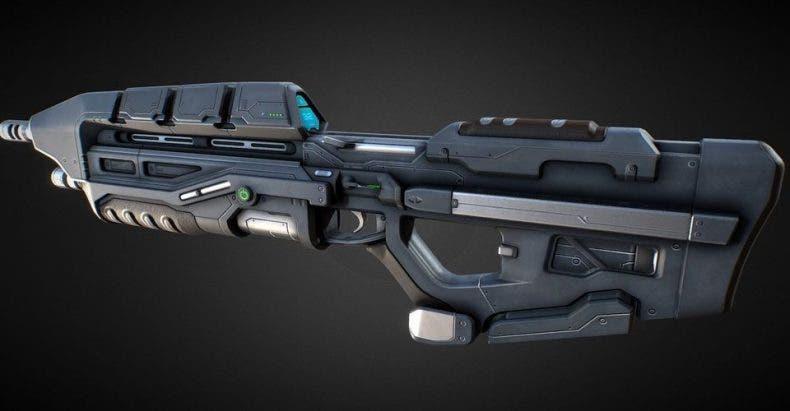 Un fan de Halo replica el rifle de asalto en su pistola Nerf 1