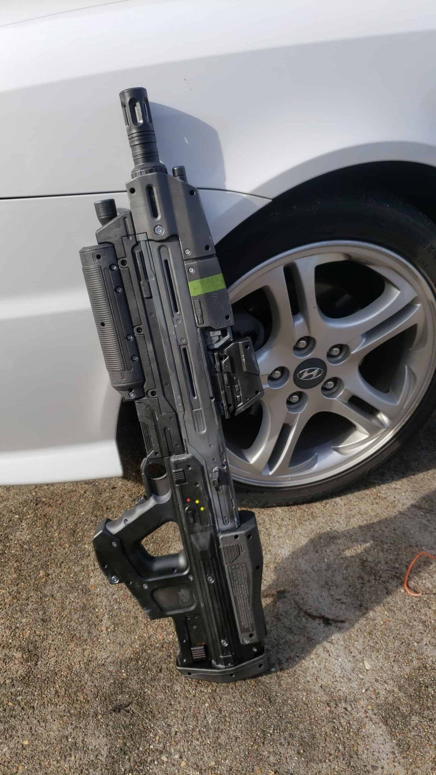 Un fan de Halo replica el rifle de asalto en su pistola Nerf 2