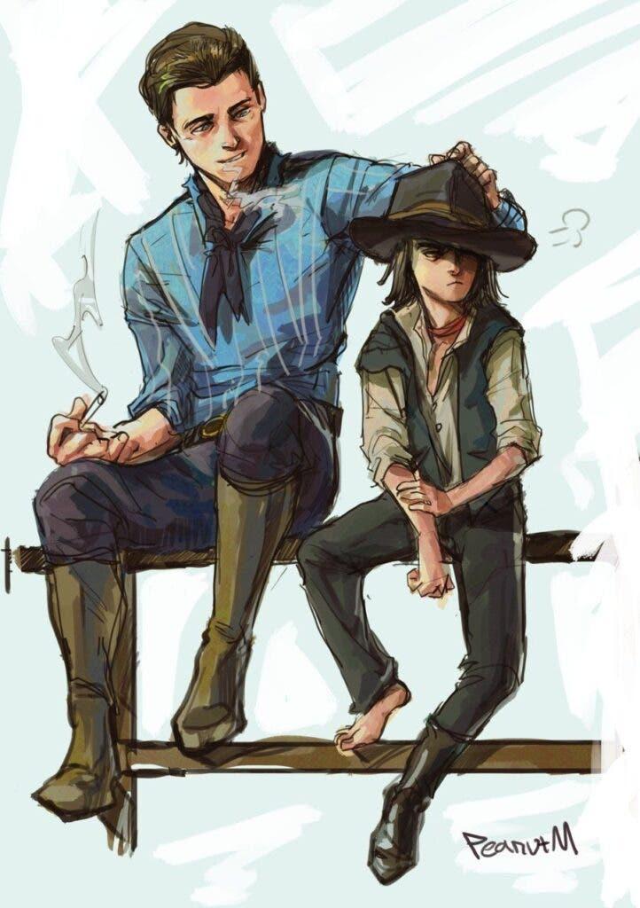 Los jóvenes Arthur y John de Red Dead Redemption 2