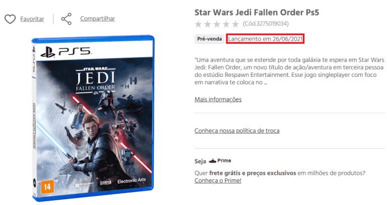Se filtra la fecha de lanzamiento de la versión next-gen de Star Wars Jedi: Fallen Order 1