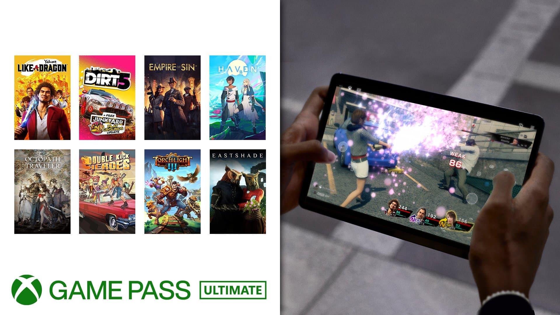 8 nuevos juegos reciben soporte para controles táctiles en xCloud