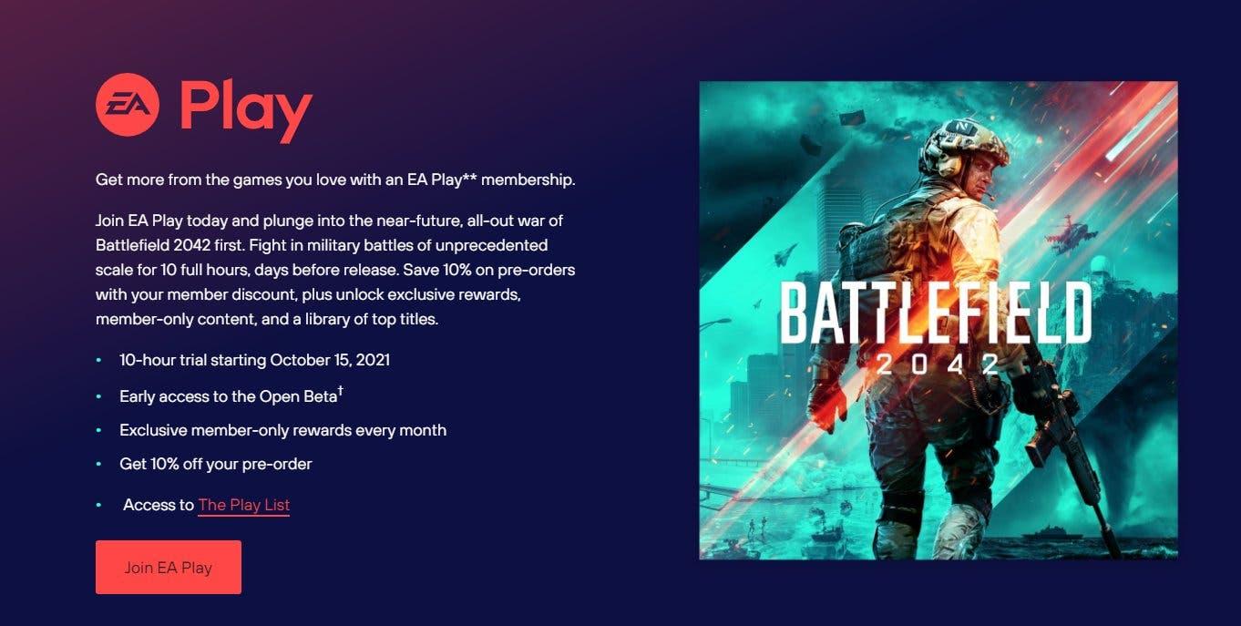 Desvelados los beneficios de EA Play y Xbox Game Pass Ultimate para Battlefield 2042