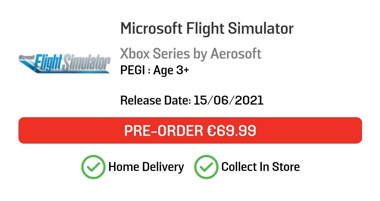 fecha de lanzamiento de Microsoft Flight Simulator para Xbox Series
