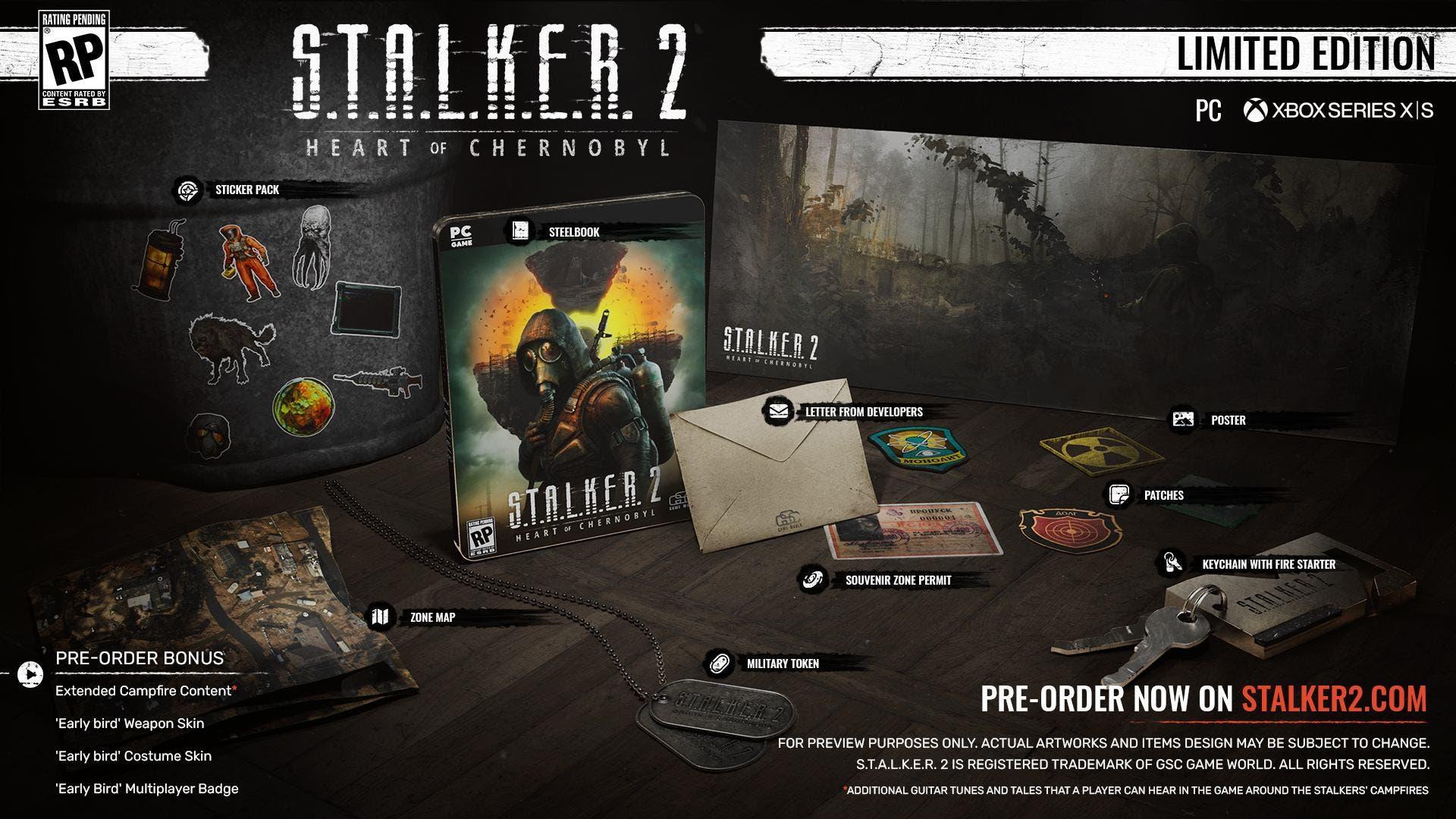 edición coleccionista de S.T.A.L.K.E.R. 2 Heart of Chernobyl