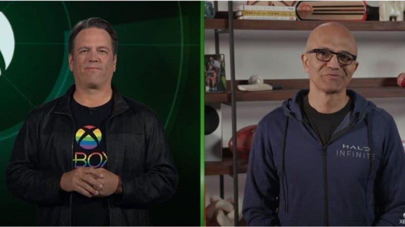 Phil Spencer habla sobre los juegos con el Director Ejecutivo de Microsoft, Satya Nadella 1