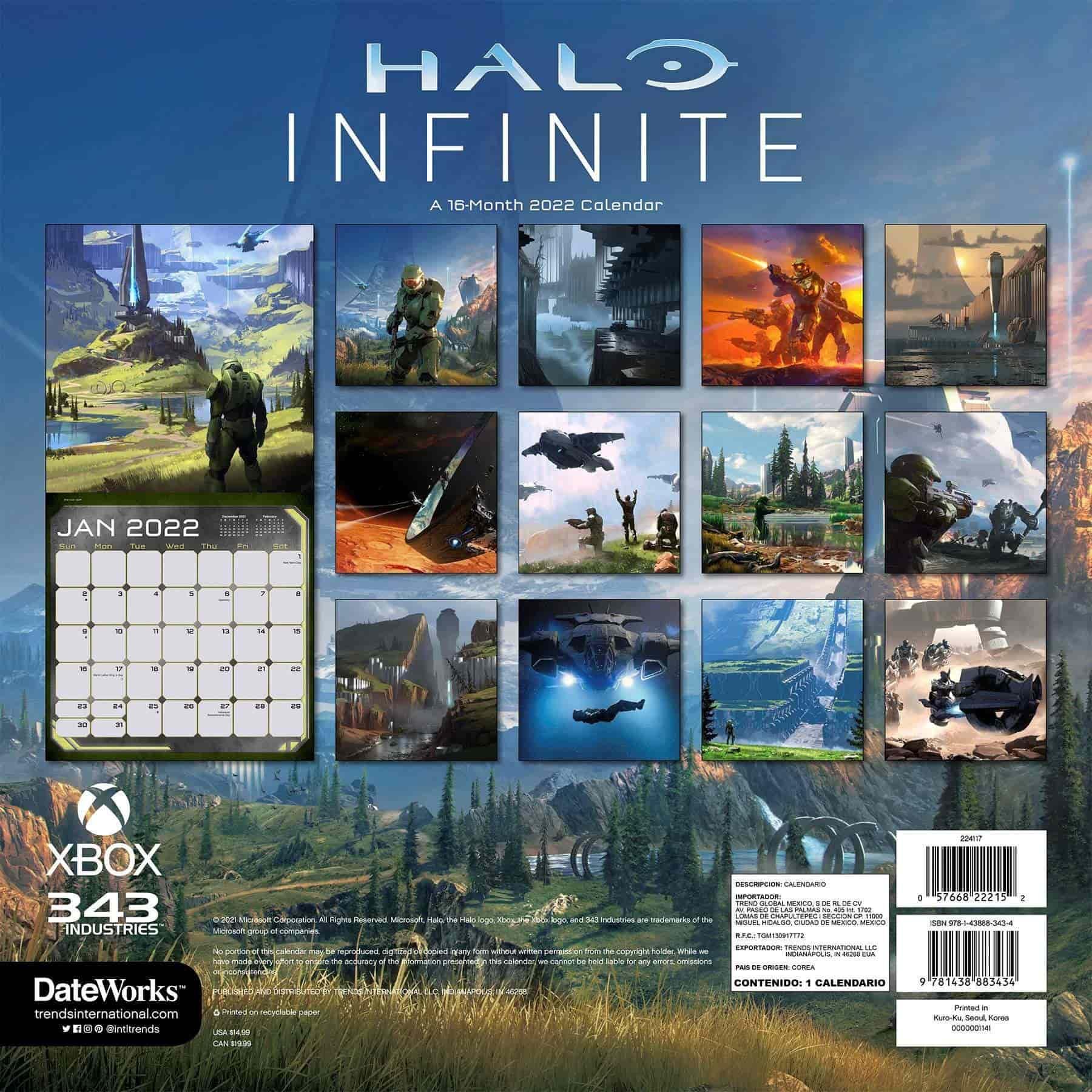 El calendario de Halo Infinite 2022 revela imágenes nunca antes vistas 1