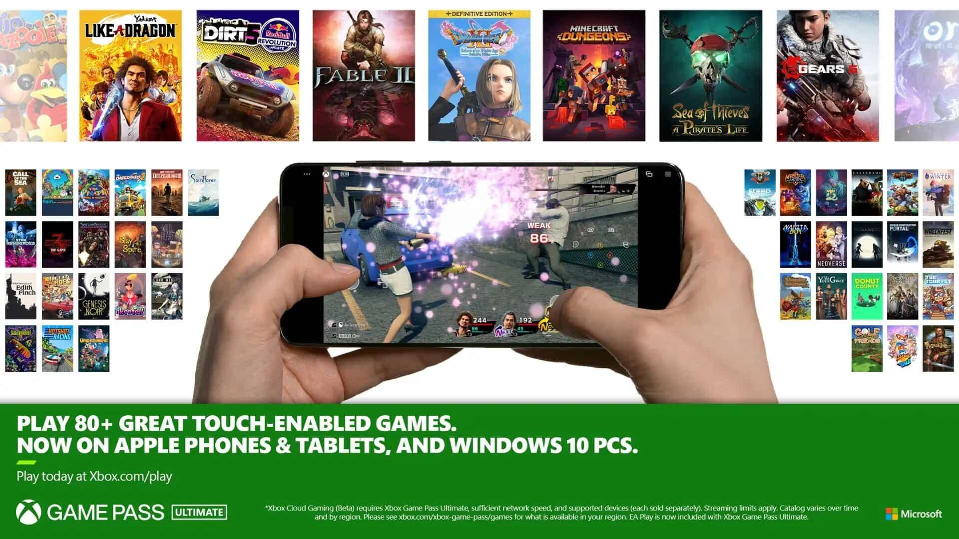 14 títulos más llegan con controles táctiles a Xbox Game Pass 2