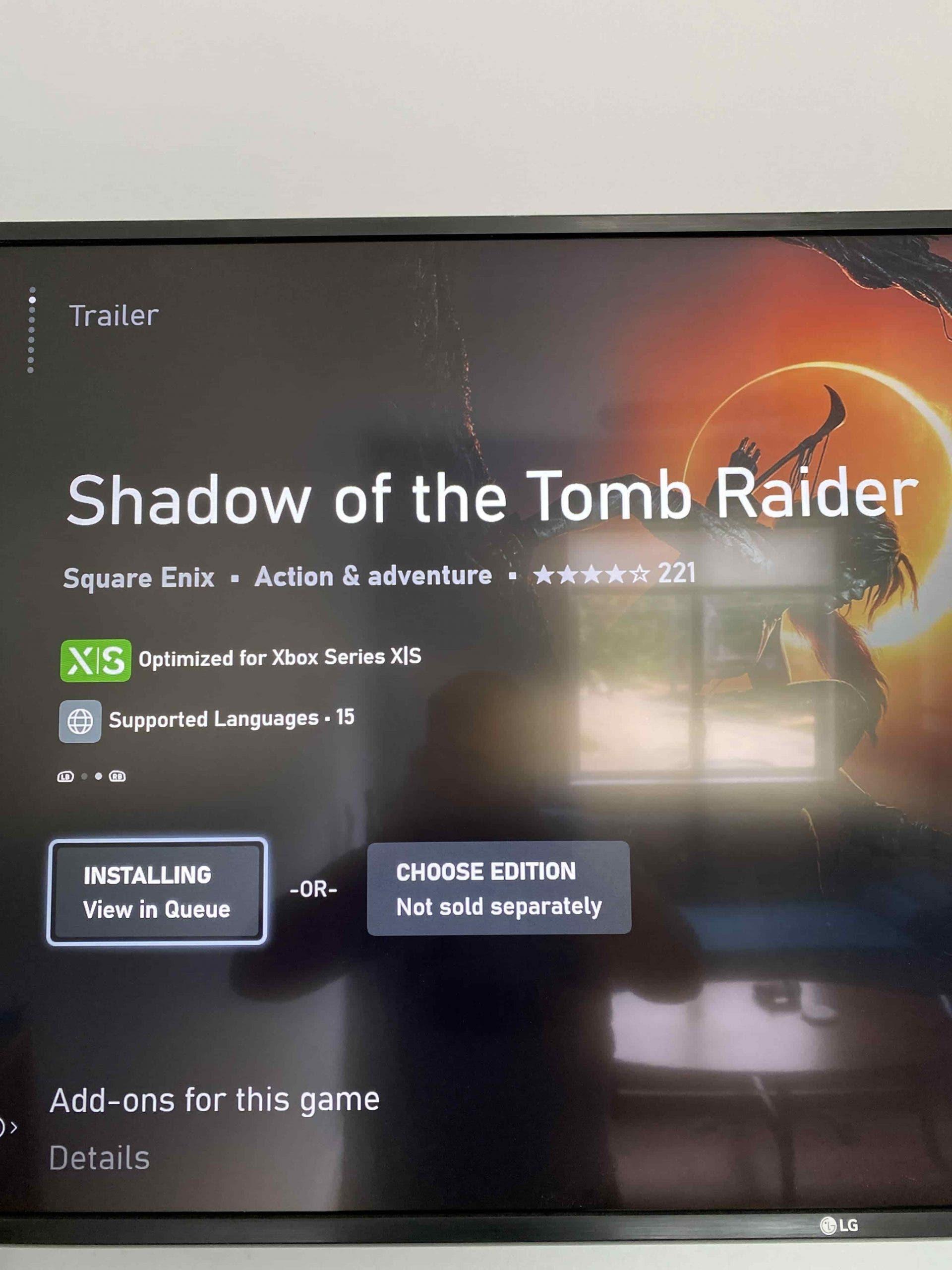 Shadow Of The Tomb Raider tendría una actualización para Xbox Series X|S próximamente 2
