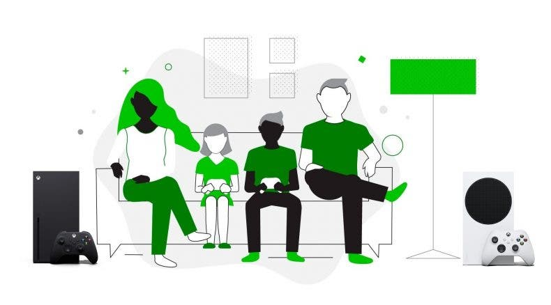 Xbox con juegos familiares