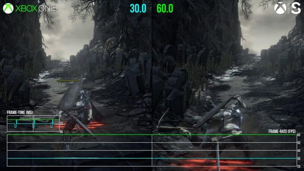 Rendimiento de Darks Souls 3 en Xbox Series X S con FPS Boost
