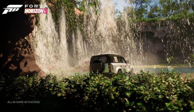 gameplay de Forza Horizon 5 por los pantanos de México