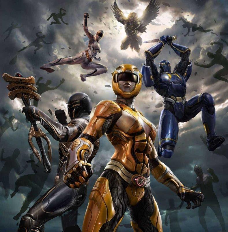 arte conceptual de un juego cancelado de alto presupuesto de Power Rangers