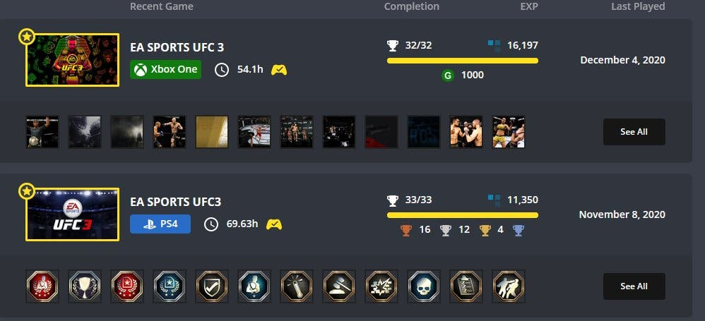 Exophase UFC3