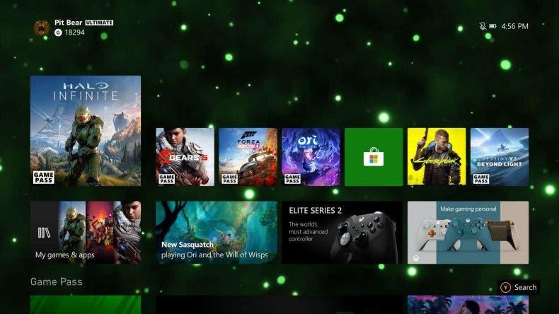 La nueva interfaz 4K de Xbox Series X
