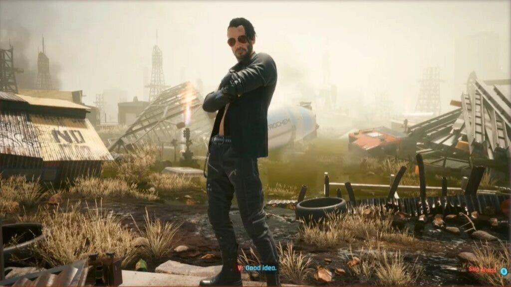 Este es el nuevo aspecto de Johnny Silverhand introducido en el primer DLC gratuito de Cyberpunk 2077