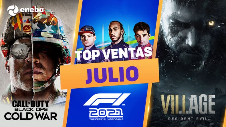 Los juegos más vendidos de julio, hasta un 70% más baratos en Eneba 1