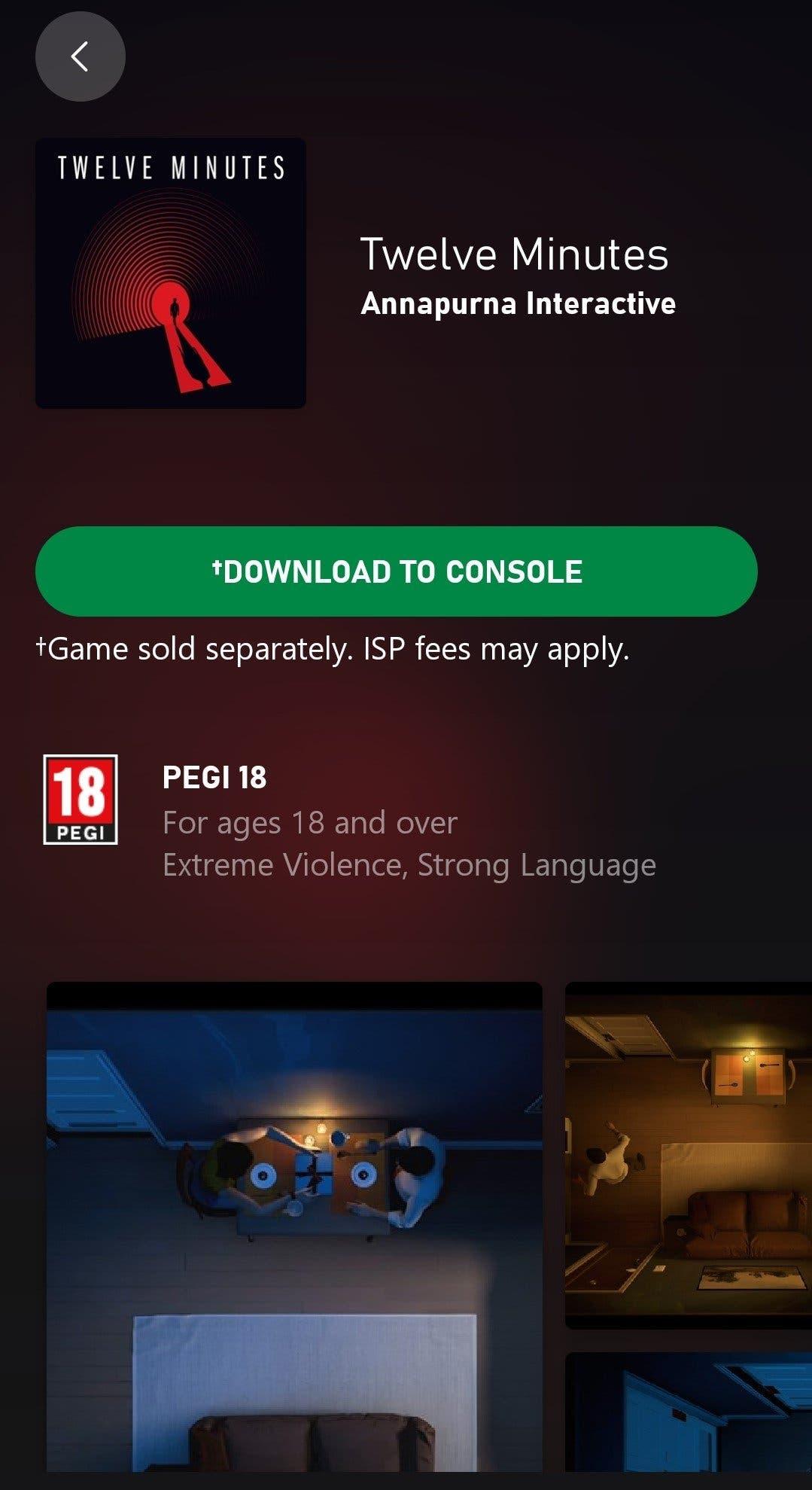 Twelve Minutes ya está disponible para descarga previa a través de la aplicación Xbox 1