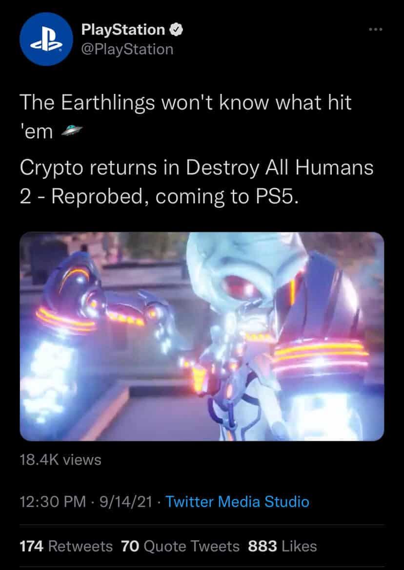 remake de Destroy All Humans 2 Reprobed