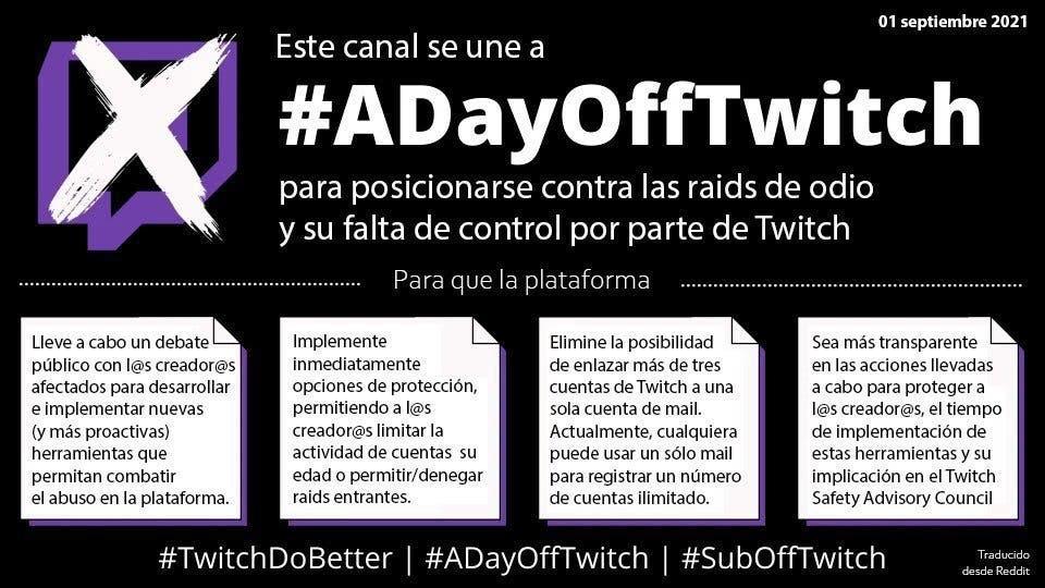 Huelga en Twitch: ¿Qué es #ADayOffTwitch? 2