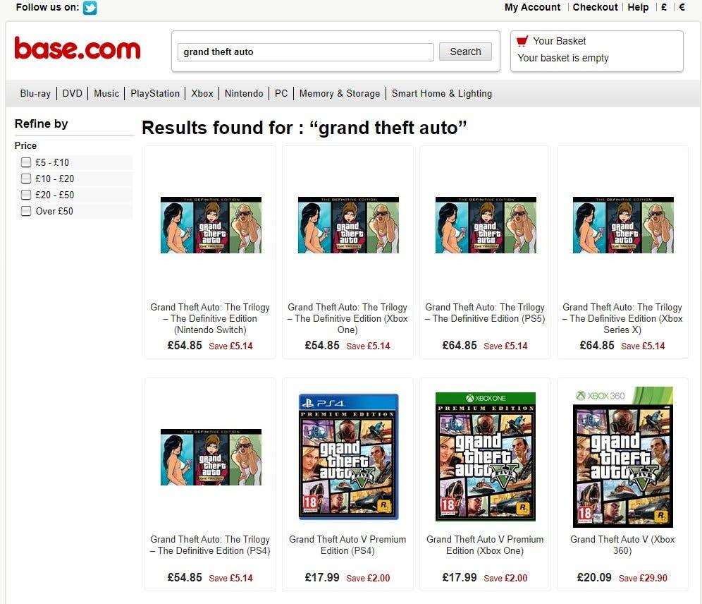 precio de GTA Trilogy Remastered para Xbox